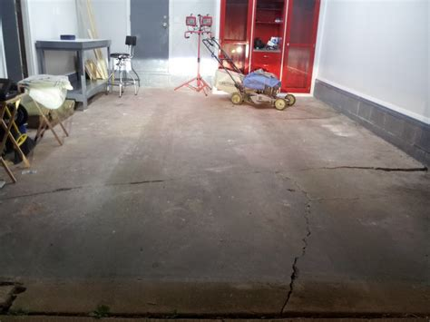repair hairline cracks  concrete garage floor stained concrete garage floor