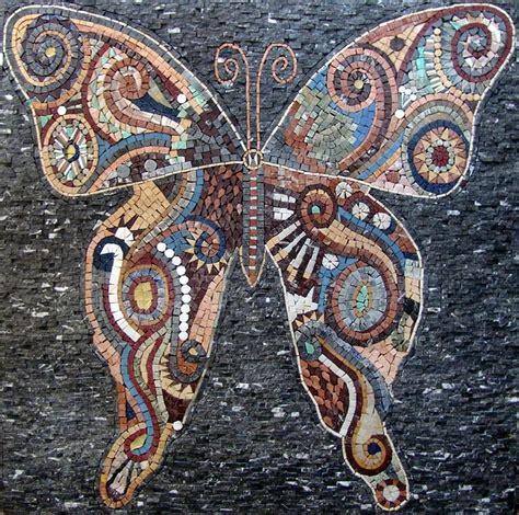 mosaic wall murals butterfly marble mosaic tiles wall mural