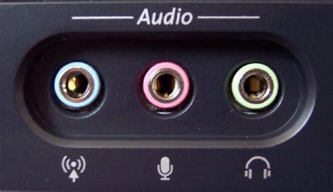 puertos de audio entrada microfono rosa salida bocinas
