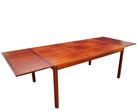 dining room table leaf kai winding mid century danish modern rosewood drop leaf