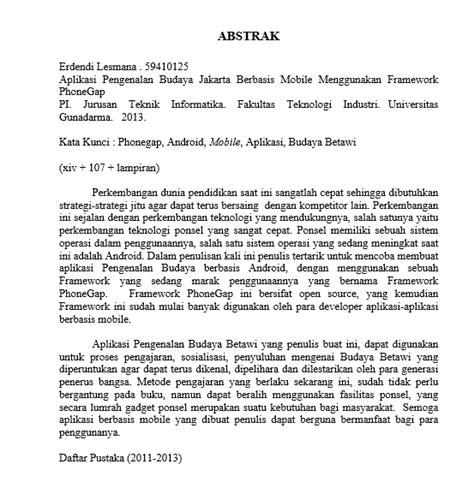 membuat abstrak karya ilmiah bahasa indonesia 1 8 abstrak dan daftar pustaka