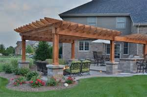 Pergola With Bar by Vistana House With Pergola Bar Fire Table Traditional