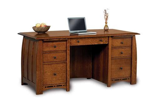 Handmade Desks - amish executive computer desk solid wood furniture office