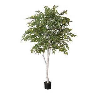 tree silver white: artificial silver birch tree replica white english woodland tree