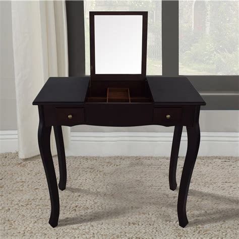 Home Depot Vanity Table by Home Emilie Walnut Vanity Table With Mirror Dwt