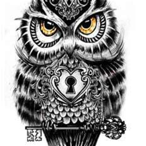 owl tattoo with lock and key meaning owl with lock and holding key tatties pinterest owl