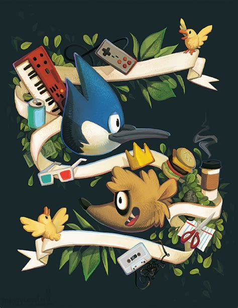 regularshow blue jay and rigby is the raccoon printable 314945 unknown artist e621