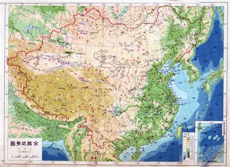 physical map of china maps of china detailed map of china in tourist