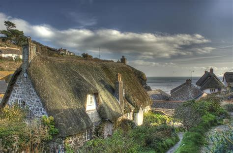 Cadgwith Cove Cottages by Cottages At Cadgwith Cove Photograph By Andrew Driver