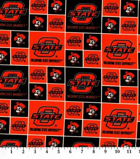 Oklahoma Upholstery by Oklahoma State Ncaa Cotton Fabric Jo