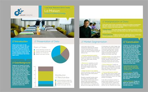 Presentation Handout Template Word One Page Brochure Template The Best Templates Collection