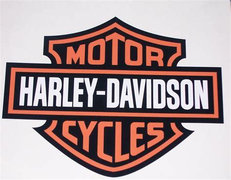 harley davidson bar amp shield full color window or wall 8 x 10 decal sticker