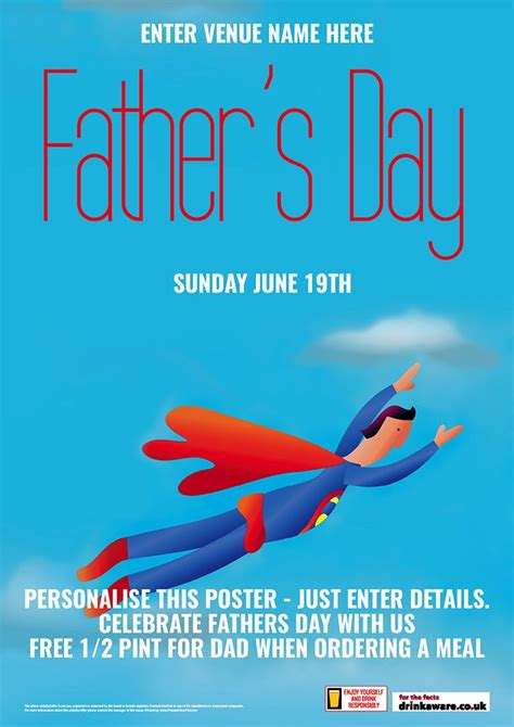 fathers day posters s day poster a1 promote your pub