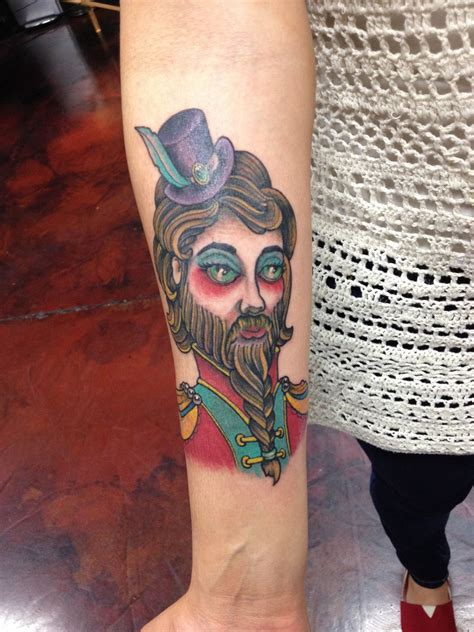 bearded lady tattoo bearded circus bigtop las vegas