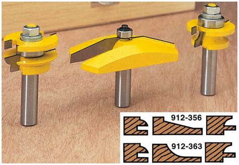 Cabinet Door Router Bits Woodworker Woodtek 3 Cabinet Door Router Bit Set