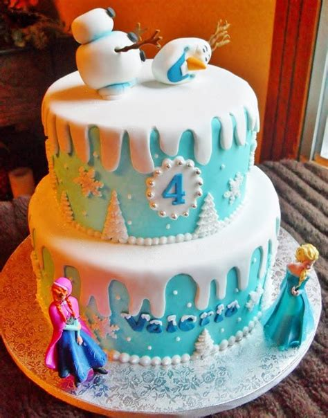 themed cake decorations frozen inspired birthday ideas