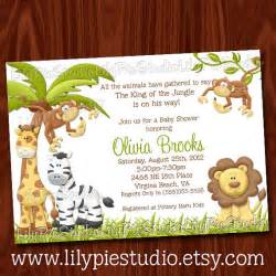 king of the jungle baby shower invitation printable digital file by pie studio catch my