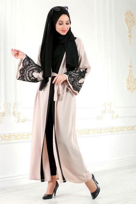 Nayla Scarf nayla collection beige abaya 4756bej