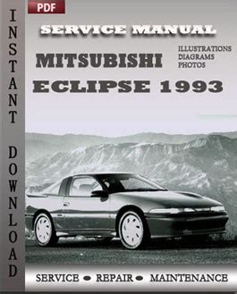 how to download repair manuals 1993 mitsubishi eclipse interior lighting mitsubishi eclipse 1993 service repair manual repair service manual pdf