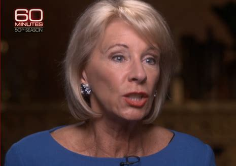 betsy devos update update critics hammer betsy devos after 60 minutes and