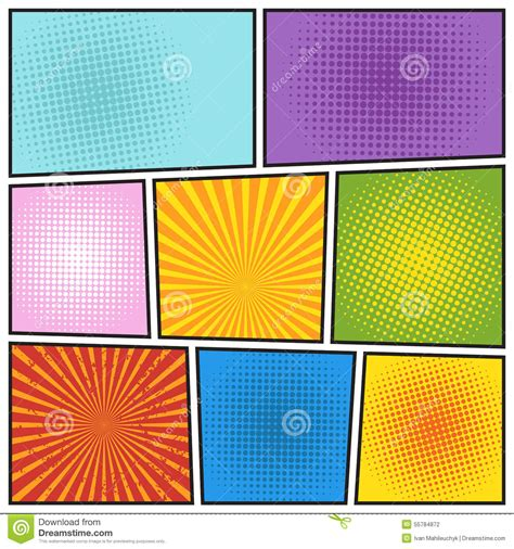 comic book colors comics book background stock illustration illustration of