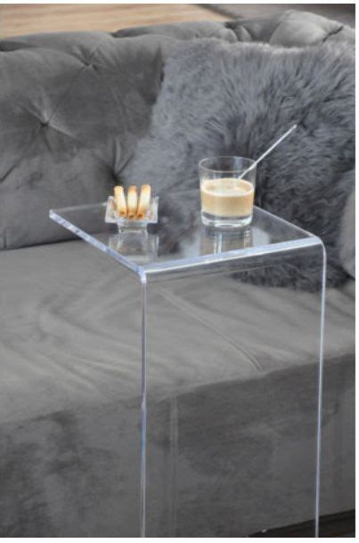 c shaped console table unique c shaped acrylic furniture lucite console table