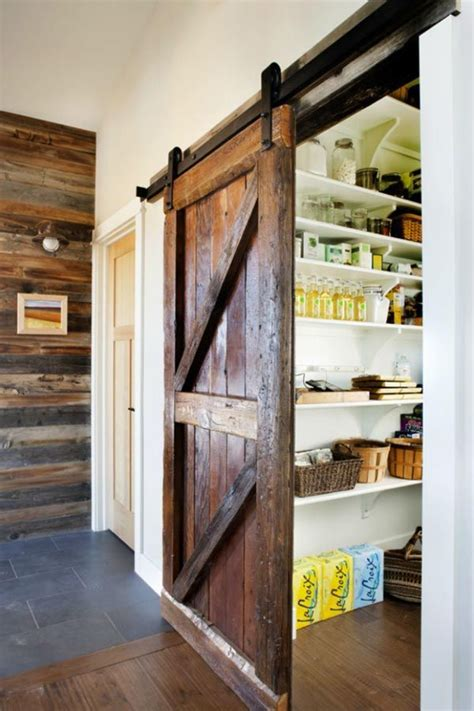 Diy Pantry Doors by Diy Pantry With Sliding Barn Door For The Home