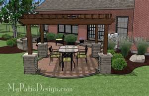 curvy pergola covered dining patio tinkerturf