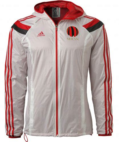 Jaket Parasut Waterproof Milan anthem jacket ac milan white 2014 2015 waterproof