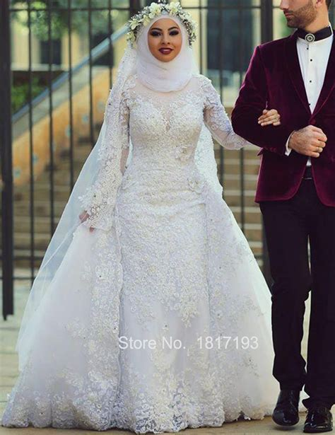 Wedding Islamic by Majestic White Wedding Gown With For Muslim