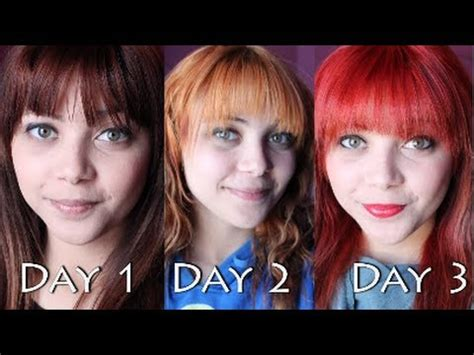 brown to red hair without bleach youtube dyeing my hair red bleaching first from dark brown to red youtube