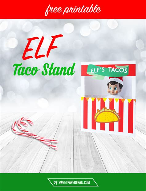 printable elf on the shelf rocket ship elf on the shelf free printable taco stand taco stand