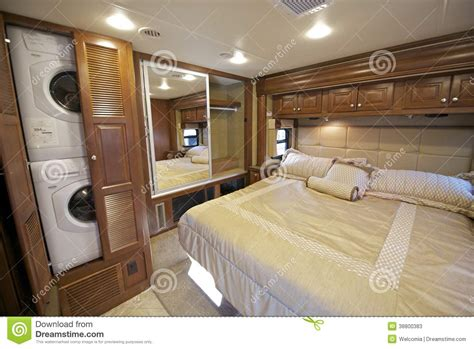 rv bedroom stock photo image 38800383