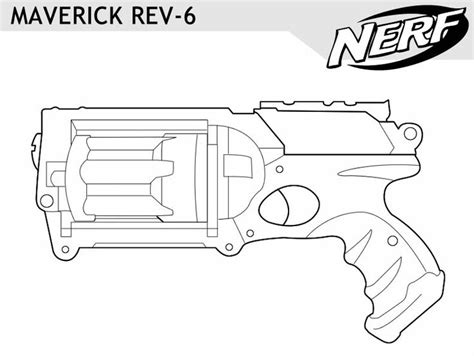 Nerf Coloring Pages nerf gun outlines search nerf