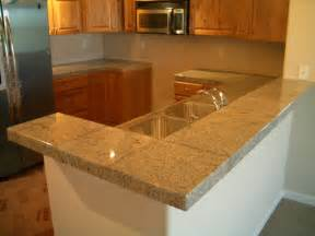 Tile Kitchen Countertops Ideas Granite Tile Kitchen Countertop And Bar