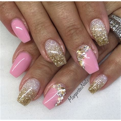 Glitzer Nägel Galerie 2471 by Gold Nail Gallery