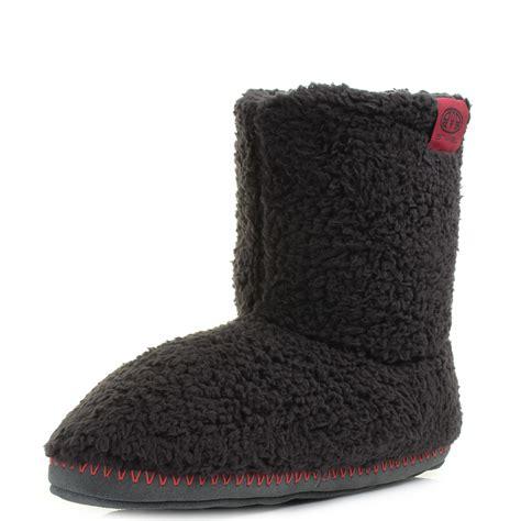 mens slipper boots uk mens animal bollo mens black fleece slipper boots uk size