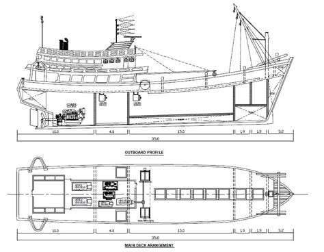 thai boat drawing marinerthai แบบเร อประมงไทย thai fishing vessel drawing