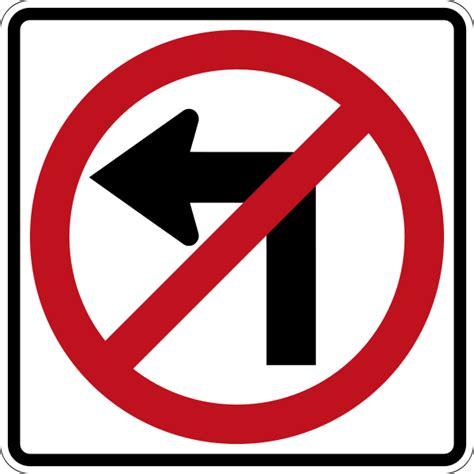 no left file canada no left turn svg