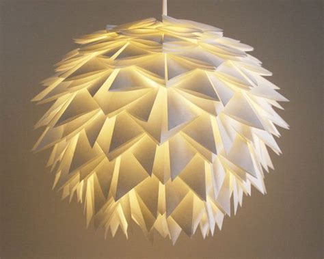 Paper Pendant L Shades The Pendant Light White Spiky Origami Paper Hanging L Shade Only Origami Paper