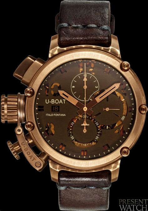 u boat copy watches u 51 chimera bronze watch presentwatch