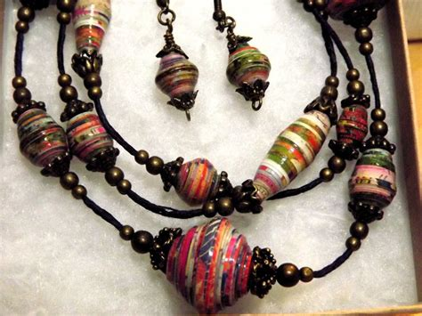 Paper Bead Jewelry Ideas - pin by johanna hibbs on paper bead jewelry designs