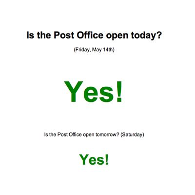 How Is The Post Office Open by Is The Post Office Open