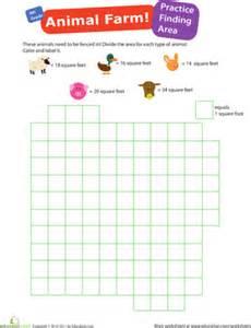 practice finding area 1 animal farm worksheet
