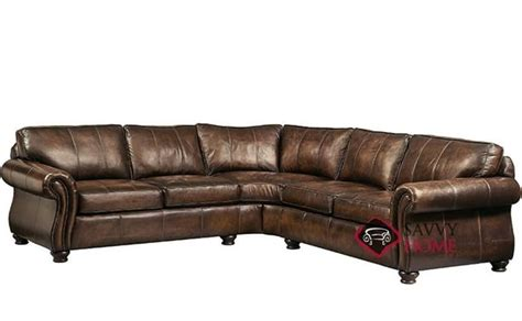 leather blend sectional quick ship van gogh by bernhardt leather true sectional in