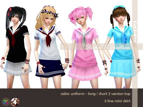 sims 4 mods manga studio k creation sims 4 studio sailor uniform for