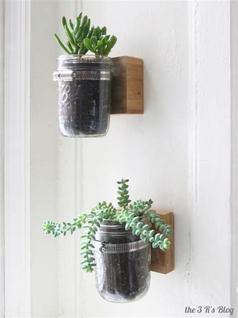 Jar Hanging Planter hanging jar planter the 3 r s