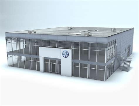 volkswagen car dealership 3d volkswagen dealership showroom model