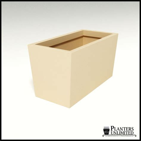 modern tapered fiberglass commercial planter 36in l x 18in