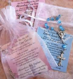 Baptism Favors by Baptism Favors Rosaries In Mini Organza Bag And Card 3 39